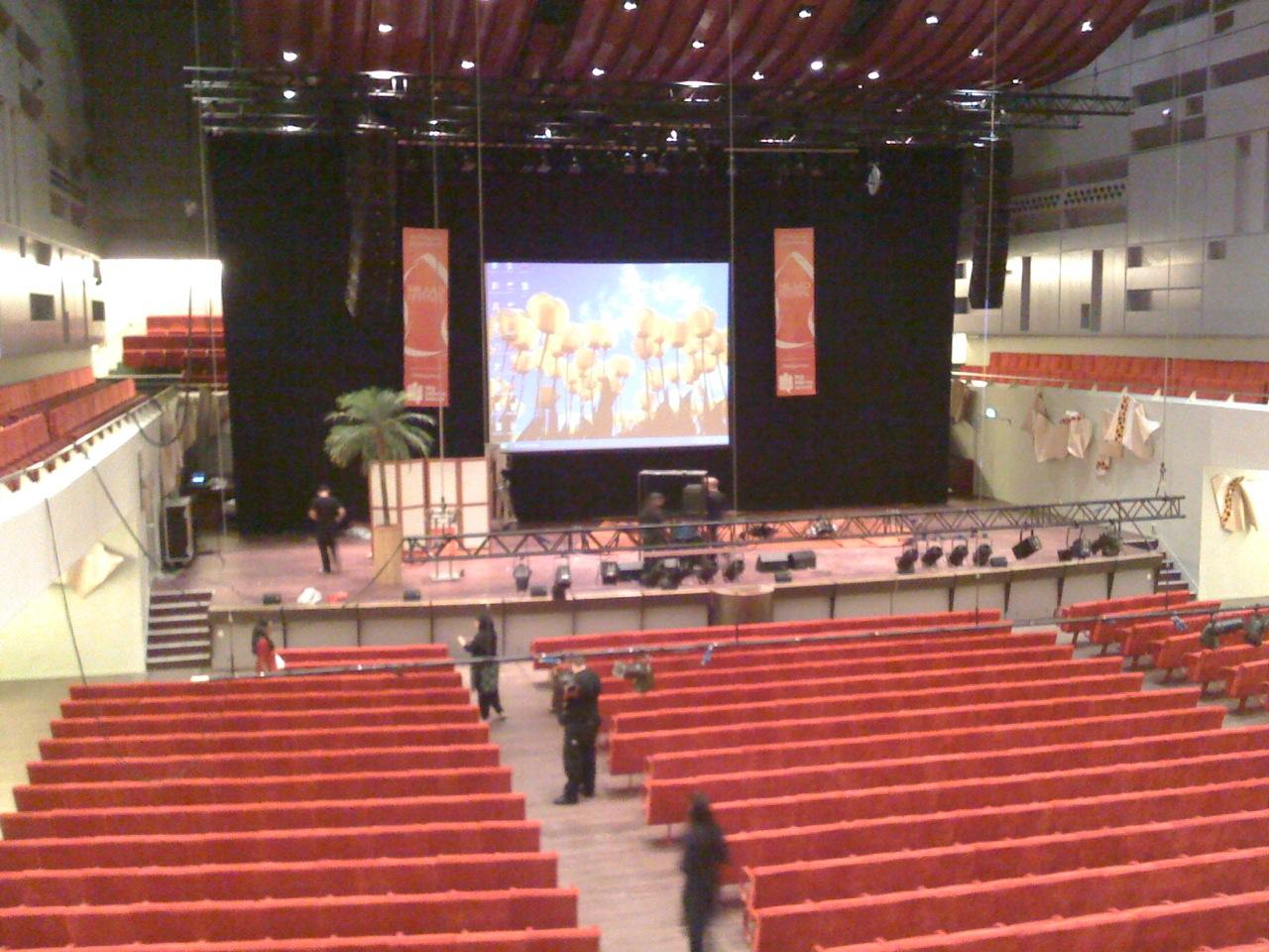 Projectie Lucent Dans Theater in Den Haag - Beamerhuren