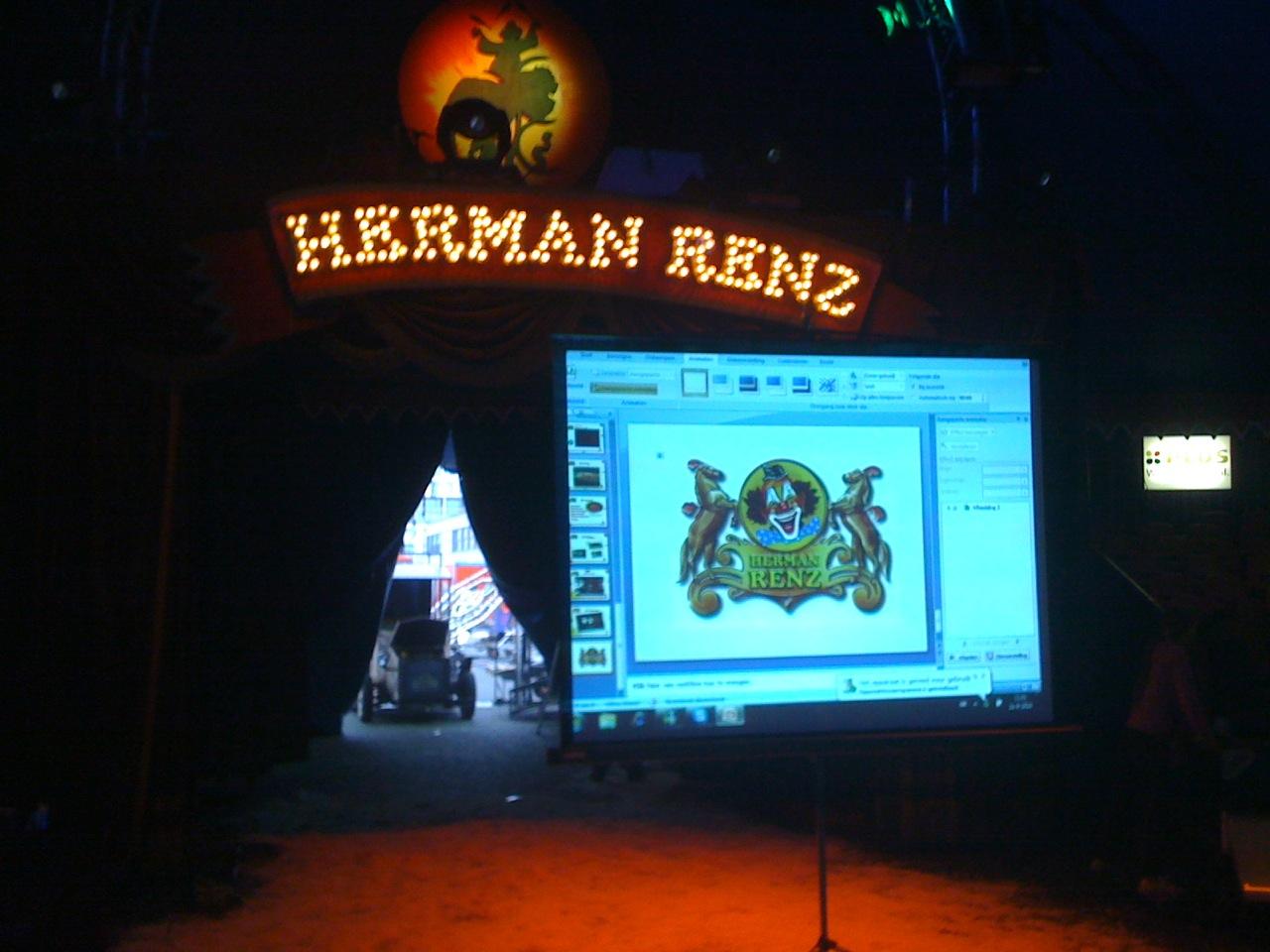 Presentatie circus Renz - Beamerhuren